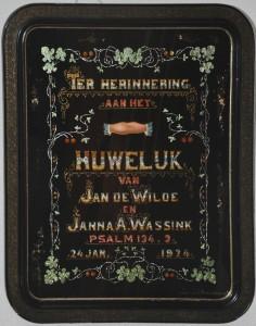 Huwelijks schilderij de Wilde